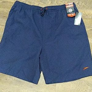 NWT. Blue speedo swim trunks